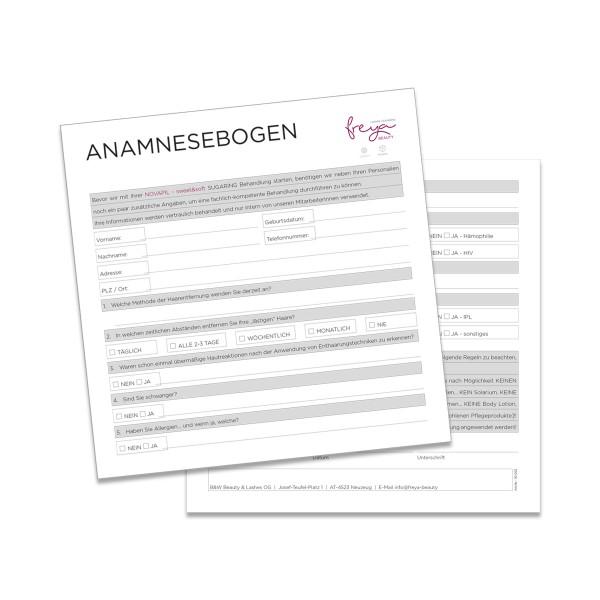 KARTEIKARTE SUGARING   Anamnesebogen